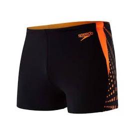 Bañador Speedo Graphic Splice Aquashort negro/naranja fluor