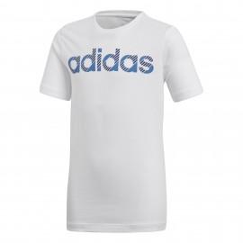 Camiseta adidas Linear blanco junior