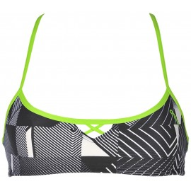 Top Arena Bandeau Be negro mujer