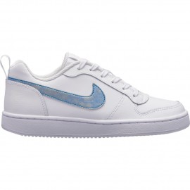 Zapatillas Nike Court Borough Low blanco azul junior