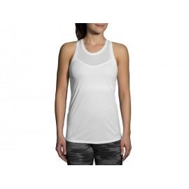 Camiseta Brooks Stealth blanco mujer