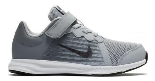 0309a7f3276 Zapatillas Nike Downshifter 8 Gris Blanco Baby - Deportes Moya