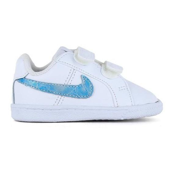 816bbb26 Zapatillas Nike Court Royale (TDV) blanco baby - Deportes Moya
