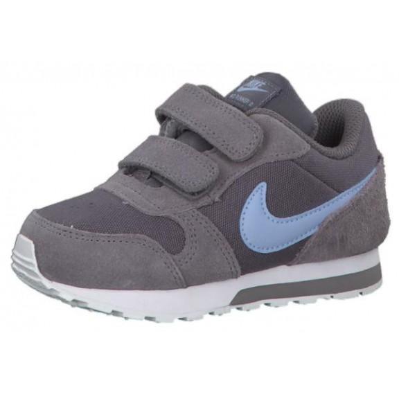 b143ecf803 Zapatillas Nike Md Runner 2 (Tdv) Gris Azul Baby - Deportes Moya