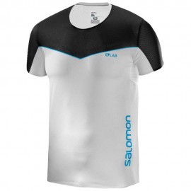Camiseta Salomon MC S-LAB Sense blanco/negro hombre