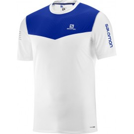 Camiseta Salomon M/C Fast Wing blanco/azul hombre