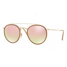 Gafas Ray-Ban RB3647n 001/70 51 gold gradient brown mirror