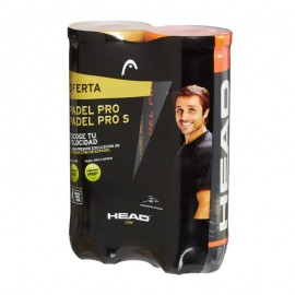 Pelotas Padel Head Bipack Pro + S