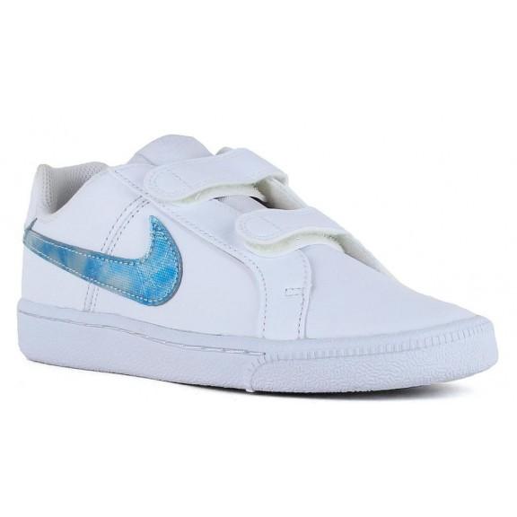 579b2b5c85510 Zapatillas Nike Court Royale (Ps) Blanco Celeste Junior - Deportes Moya