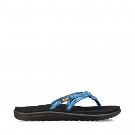 Sandalias dedo Teva W Voya Tri-Flip azul mujer