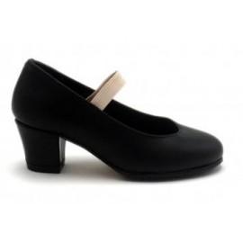 Zapatos de flamenco goma negro talla 41