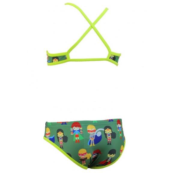 0d21097935f5 Bikini Jaked Superheroes verde niña