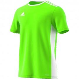 Camiseta Adidas Entrada 18 Jsy verde fluor niño