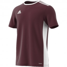 Camiseta Adidas Entrada 18 Jsy granate/blanco niño