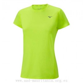 Camiseta de running Mizuno Impulse Core Tee wos fluor mujer