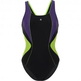 Bañador AquaSphere Chelsea negro/purpura mujer