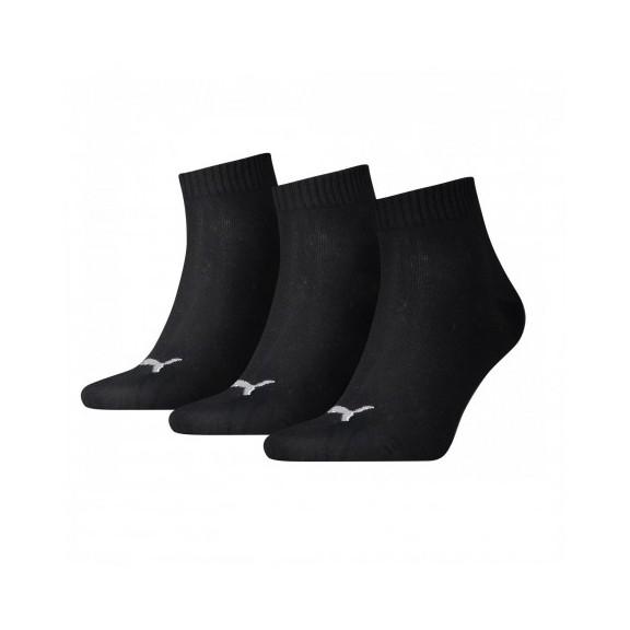 Calcetines Puma unisex quarter plain negro