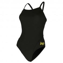 Bañador AquaSphere Mid Back Solid negro mujer