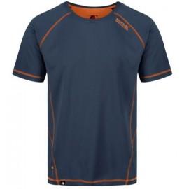 Camiseta tecnica montaña Regatta Virda II azul hombre