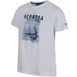 Camiseta outdoor Regatta Cline II blanca hombre
