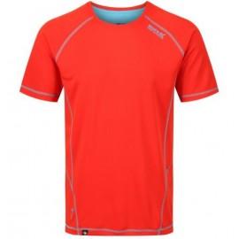 Camiseta tecnica montaña Regatta Virda II naranja hombre