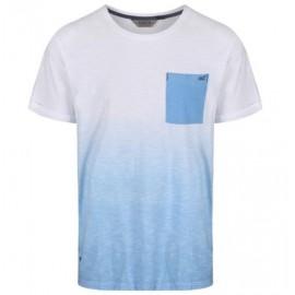 Camiseta senderismo Regatta Tyren blanco/azul hombre