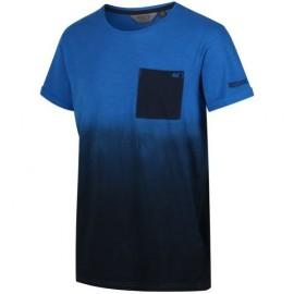 Camiseta senderismo Regatta Tyren azul hombre