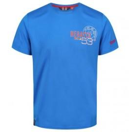 Camiseta senderismo Regatta Tancredo azulon hombre