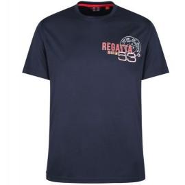 Camiseta senderismo Regatta Tancredo marino hombre