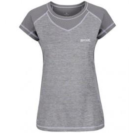 Camiseta senderismo Regatta Breakbar III gris mujer