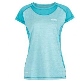 Camiseta senderismo Regatta Breakbar III turquesa mujer