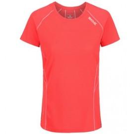 Camiseta senderismo Regatta Virda II coral mujer