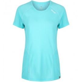 Camiseta senderismo Regatta Virda II turquesa  mujer