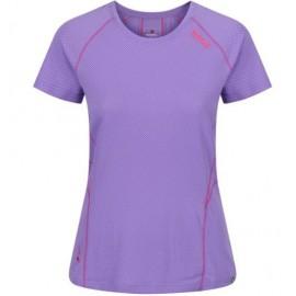 Camiseta senderismo Regatta Virda II morado mujer