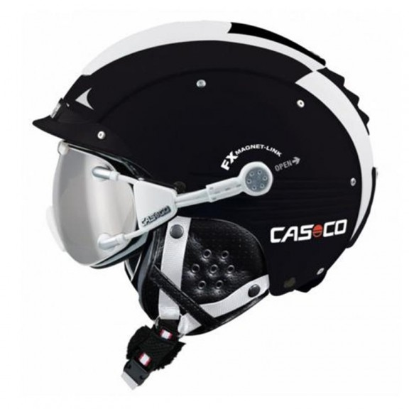 Casco Sp-5 Black White Shiny 3202
