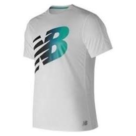 Camiseta running New Balance MC Accelerate blanca hombre