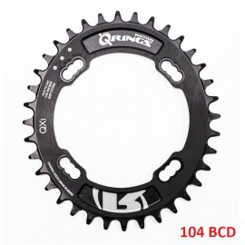 Plato Rotor QRings Oval Chainring BCD104x4 34T Negro