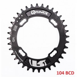 Plato Rotor QRings Oval Chainring BCD104x4 36T Negro