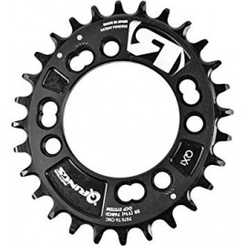 Plato Rotor QRings Oval Chainring BCD76x4 32T Negro