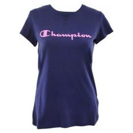 Camiseta Champion Cuello Caja azul marino mujer