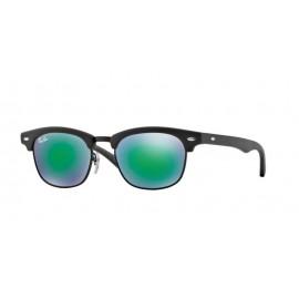 Ray-Ban Rj9050s 100s3r 45 Junior Negra Espejo Verde Gafas De