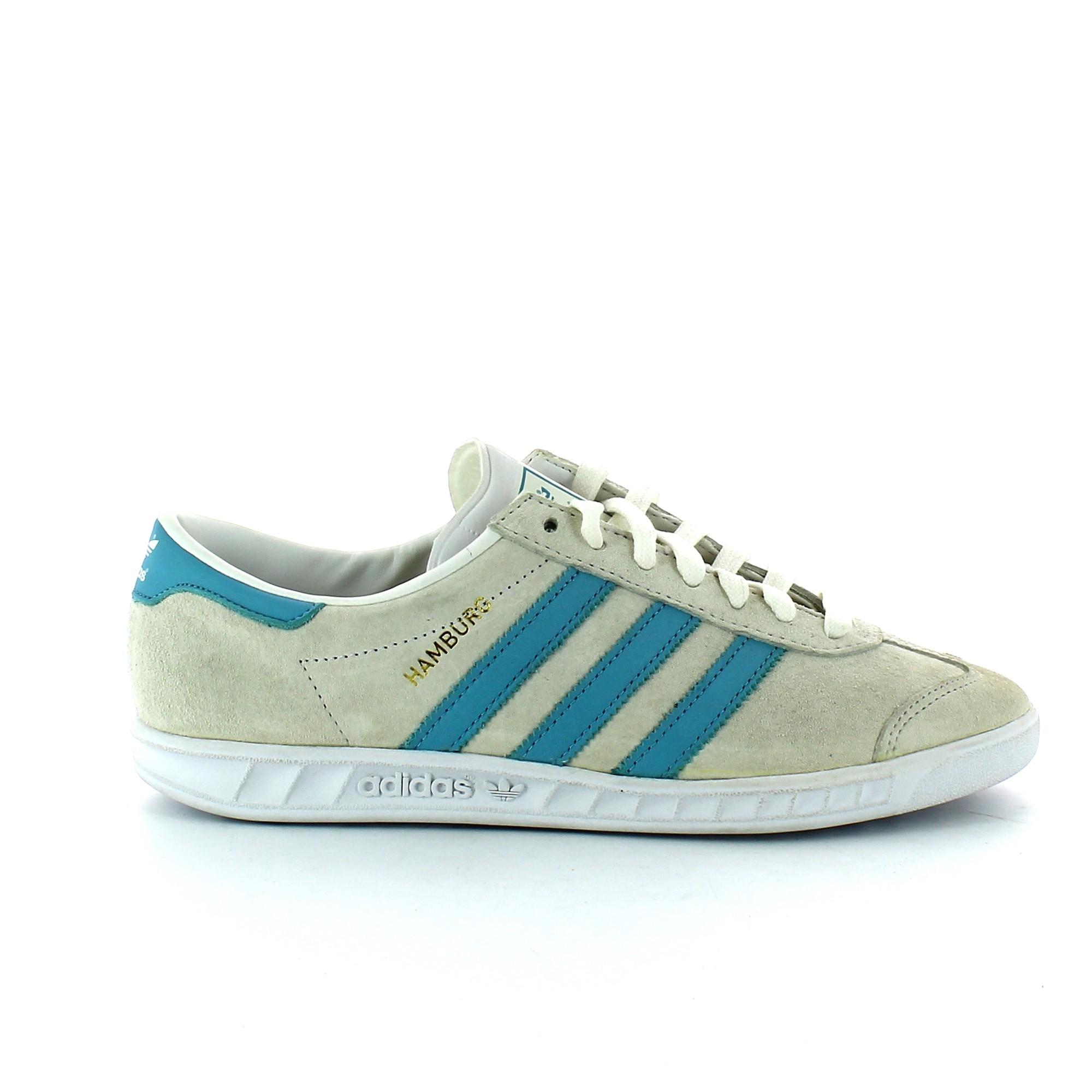 best loved 2d793 34ee4 Zapatillas Adidas Hamburg Blanco Celeste Hombre - Deportes M