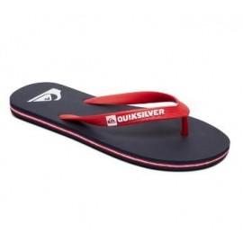 Chanclas Quicksilver Molokai marino/rojo junior