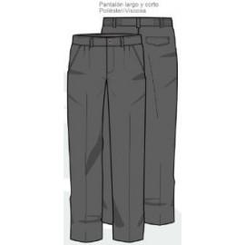 Pantalón largo uniforme gris Pureza 10-14