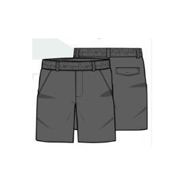 Pantalón corto uniforme gris Pureza S-XXL