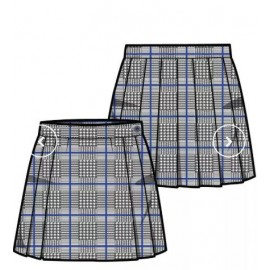 Falda cuadros Pureza S-XXL