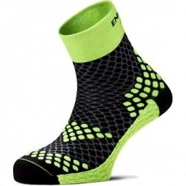 Calcetines running Enforma Running Pro Active negro amarillo