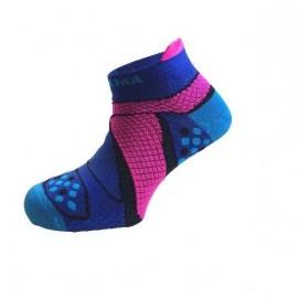 Calcetines running Enforma Running Verano 2017 azul/rosa