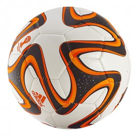 Balón fútbol Adidas Mundial 2014 Brazuca blanco naranja