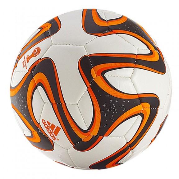 29164b7062396 Balón Fútbol Adidas Mundial 2014 Brazuca Blanco Naranja - Deportes Moya